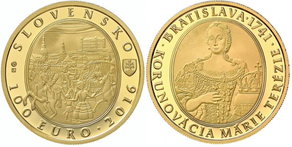 100€ Bratislavské korunovácie