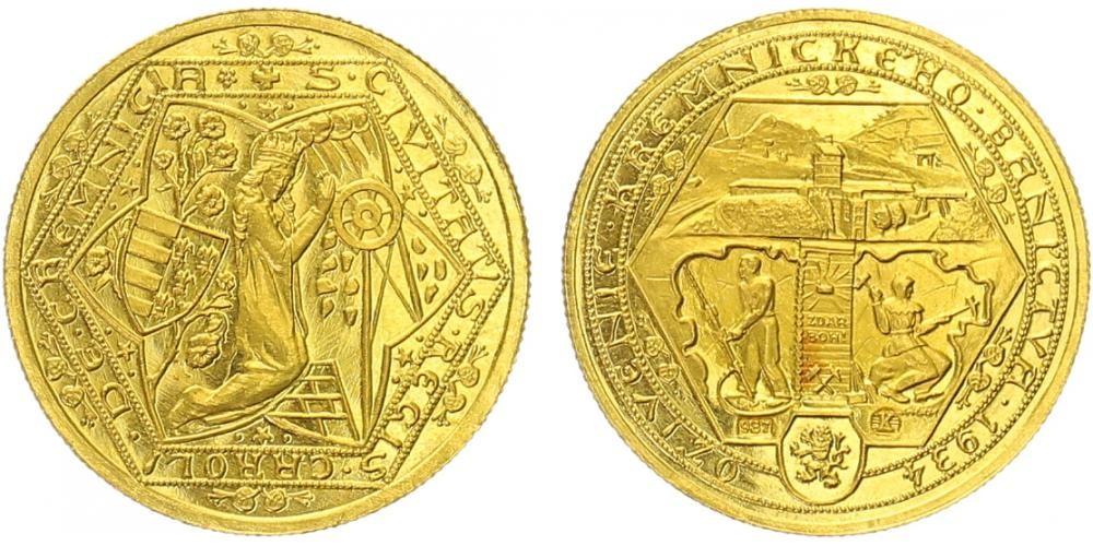 1 dukát Oživenie kremnického baníctva 1934
