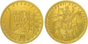 10 Dukat 1934 Tschechoslowakei