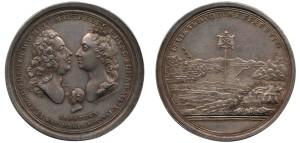 Medaile k narození arcivévody Josefa II. Norimberk, Peter Paul Werner (1689–1771). 1741. Datováno a značeno na aversu P.P.WERNER. Interpretaci významu si můžete přečíst na stranách 86-88 v publikaci Mince a medaile císaře Františka Štěpána Lotrinského (2011).