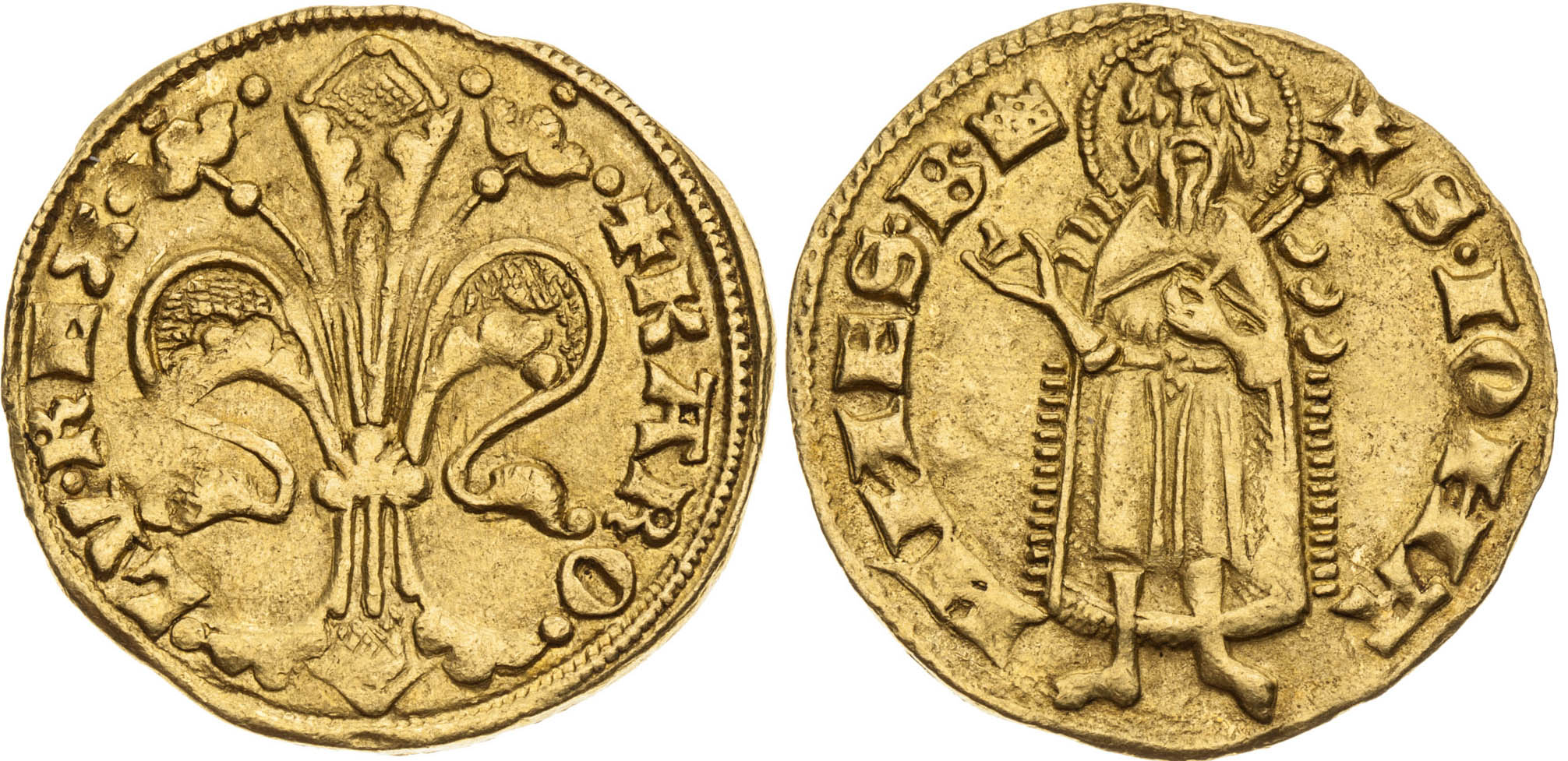 Dukát (1325 - 1342), Karol Robert z Anjou, Kremnica oder Budín