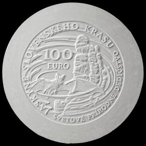 100€ Svetové prírodné dedičstvo – Jaskyne Slovenského krasu 2017