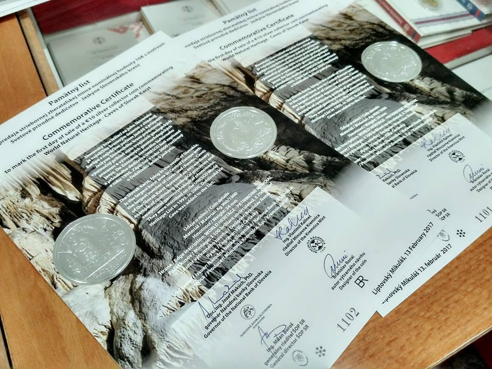 10 eur Svetové prírodné dedičstvo – Jaskyne Slovenského krasu