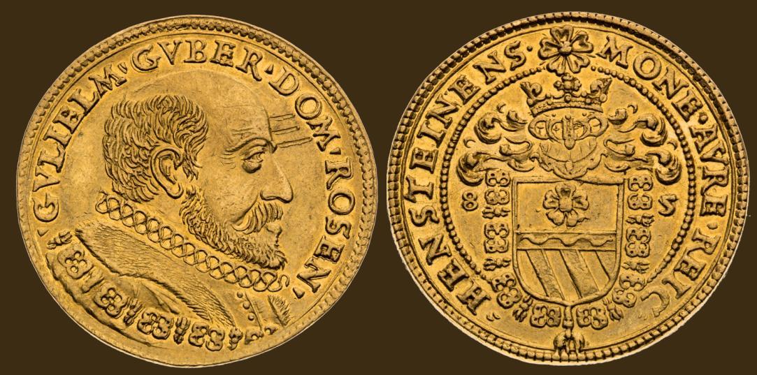 3 Dukát 1585 Vilém z Rožmberka