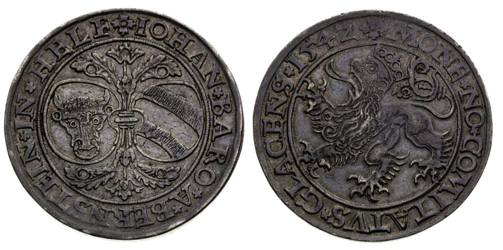 Tolar 1542. Slezsko. Jan z Pernštejna (1487 - 1548)