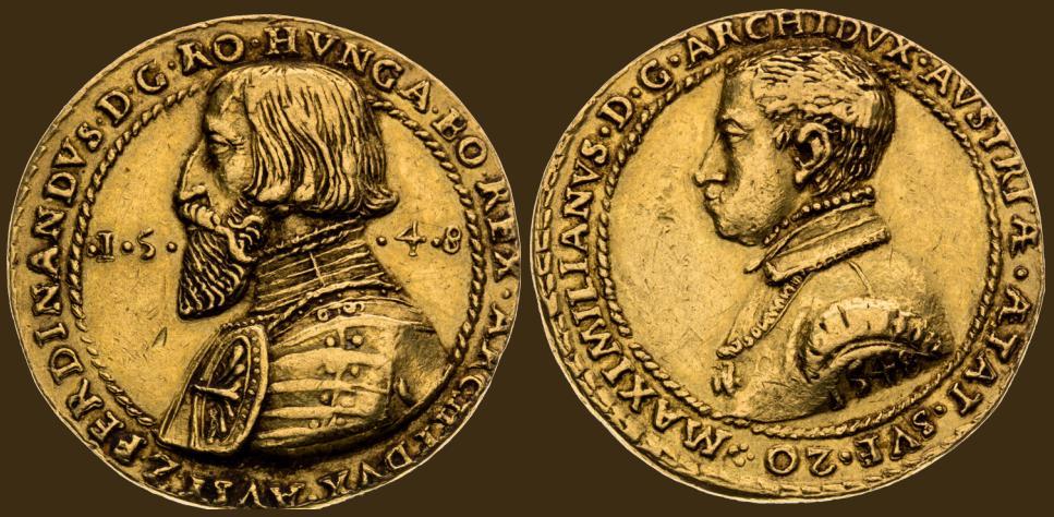 Zlatá medaile 1548. Zvolení Maxmiliána II. za českého krále