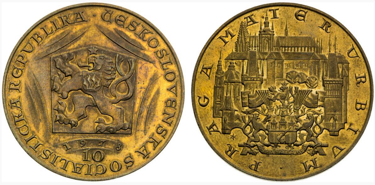 10 dukát 1978 Karel IV. skúšobný odrazok